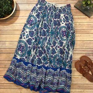 Size 14/16 Lane Bryant Paisley Sequin Maxi Skirt